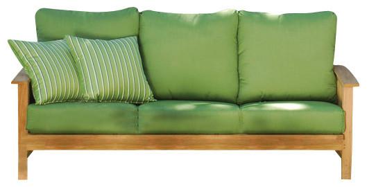 Acme coastal outdoor wooden sofa contemporary outdoor for Sofa exterior leroy