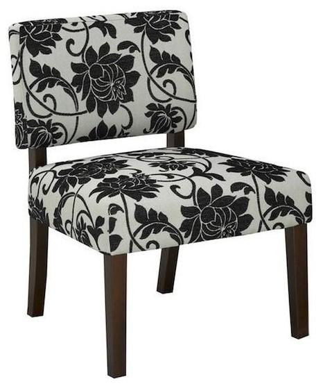 Brassex Accent Chair, Black/Cream