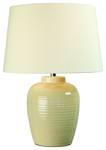 Salerno Ceramic Table Lamp, Cream.