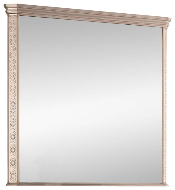 London Wall Framed Mirror Antique Silver 32 Inches Contemporary Bathroom Mirrors By