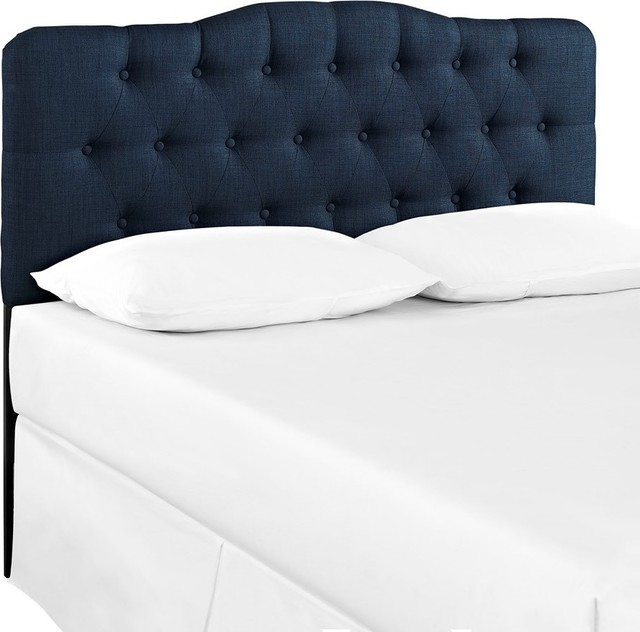 Modway Furniture Annabel Full Fabric Headboard, Navy.
