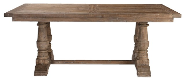 Traditional Wood Dining Tables uttermost salvaged dining table - traditional - dining tables -
