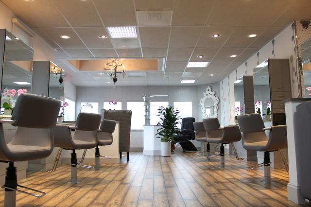 Hair Salon Floor And Window Coverings Contemporary Los