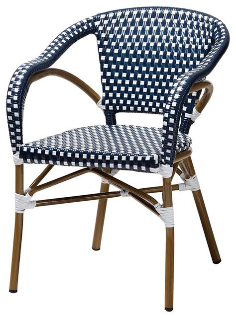 Miraculous Jonte Classic Indoor Outdoor Navy White Bamboo Bistro Dining Chairs Set Of 2 Inzonedesignstudio Interior Chair Design Inzonedesignstudiocom