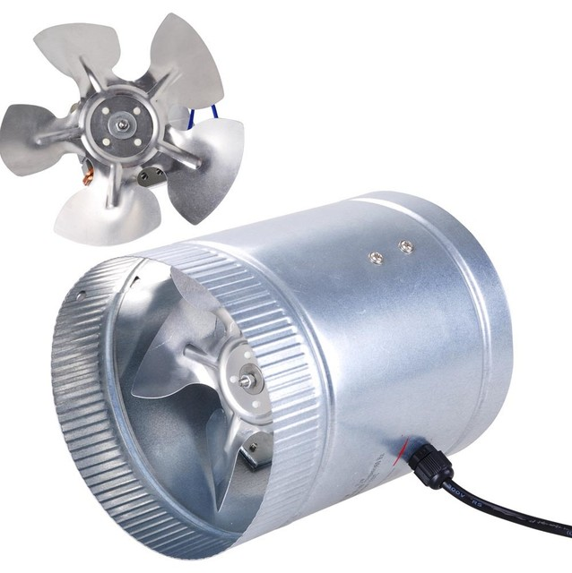 "4 Inline Duct Booster Fan 6"" 260Cfm Exhaust Blower for ..."