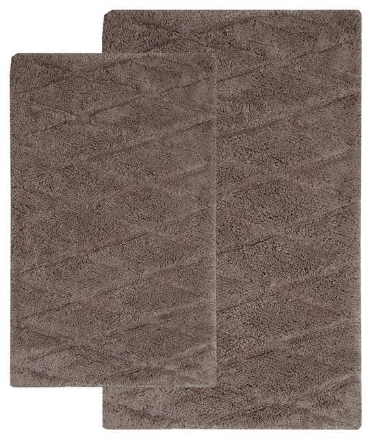 Bathroom Rugs Modern: Bath Rug Cotton, 2 Piece Set, GSF 180