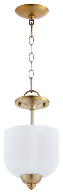 "Semi Flush Mount 3-Light With Aged Brass Candelabra Base Bulb, 8""x14.5"", 180w."