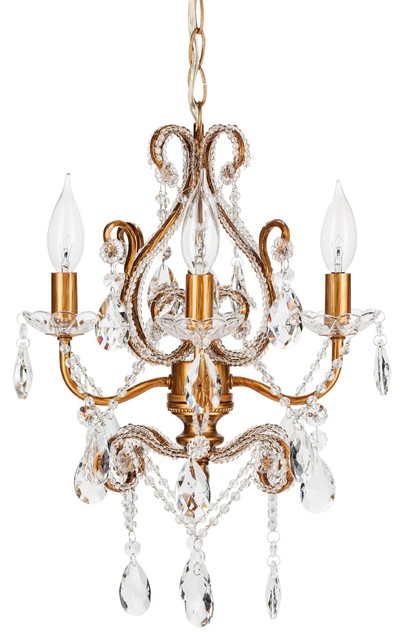 Amalfi decor josephine mini 4 light beaded crystal chandelier josephine mini 4 light beaded crystal chandelier gold mediterranean chandeliers aloadofball Gallery