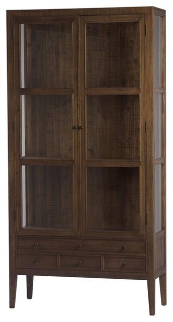 Tall Bellino Cabinet Wood Double Doors