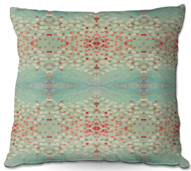 DiaNoche Throw Pillows By Paper Mosaic Studio Abstract Turquoise Red Fascinating Red And Turquoise Decorative Pillows