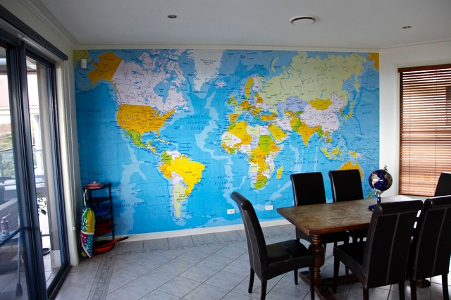 World map wallpaper mural for sydney home contemporary sydney world map wallpaper mural for sydney home contemporary gumiabroncs Images