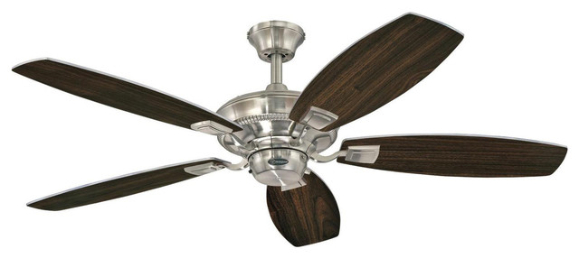 "Westinghouse 52"" Nickel Finish Aiden Reversible Five-Blade Indoor Ceiling Fan."