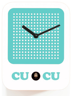 Shop Houzz | Progetti Cucuradio 2225 White Wall Clock - Cuckoo Clocks