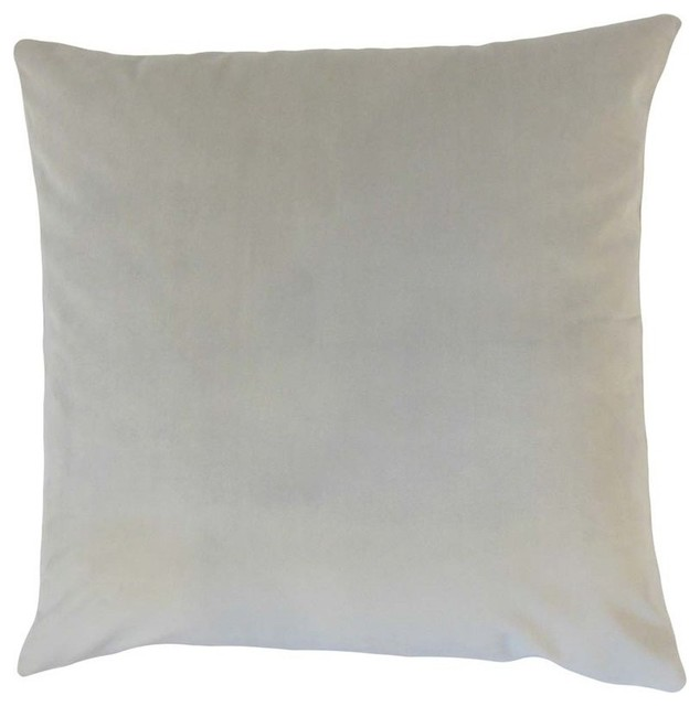 "The Pillow Collection 18"" Square Nizar Solid Throw Pillow."