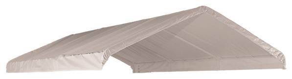 12&x27;x20&x27; White Canopy Replacement Cover Fits 2 Frame.