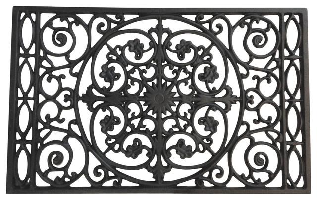 Door Mat Powder Coated Cast Iron Traditional