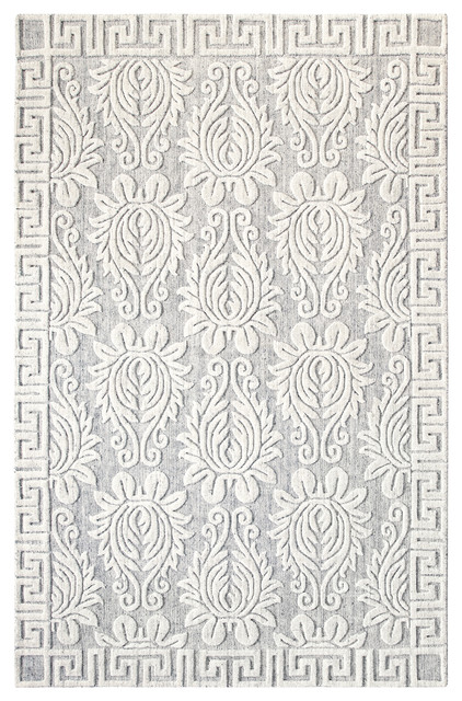 Savoy Rug Pewter Contemporary Area