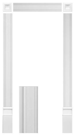 Orac Decor Plain Duropolymer Door Surround Kit.