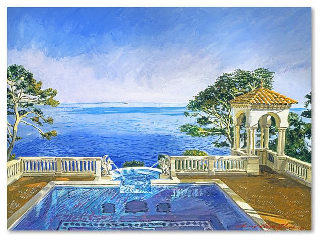 "David Lloyd Glover 'Cap Martin, Monaco' Canvas Art, 18""x24"""