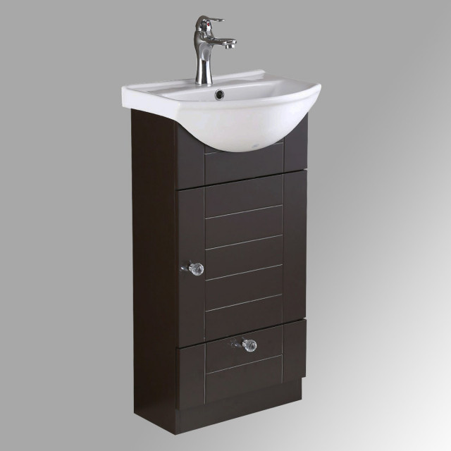 Bathroom Vanity Cabinet Sink With Faucet And Drain Combo Contemporary Bathroom Vanities And Sink Consoles By Renovator S Supply Houzz