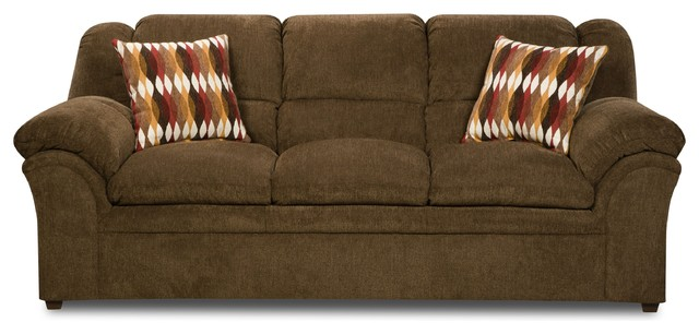 Simmons Upholstery Verona Chocolate Sofa Sofas By Lane Home Furnishings