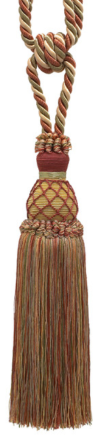 "Wine Gold Green 10"" Tassel Tieback Cherry Grove, Invidual."