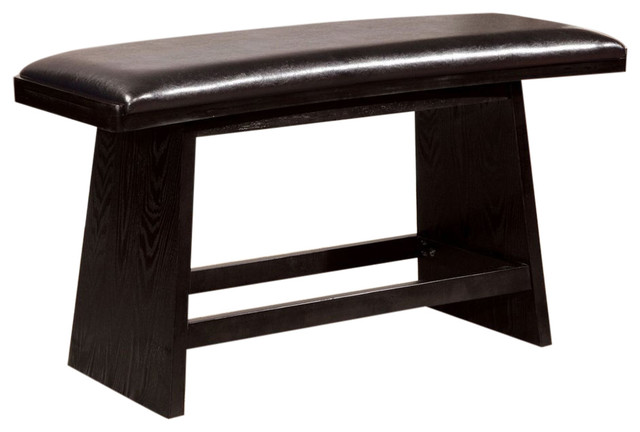 Hurley Counter Ht. Bench, Black.