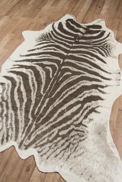 Erin Gates By Momeni Acadia Zebra Gray Hand Woven Wool Area Rug 5&x27;3x7&x27;10.