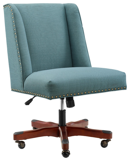 Draper Sea Blue Office Chair.