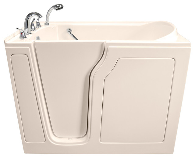 """Biscuit Dignity 48""""x28"""" Whirlpool & Air Jetted Walk-In Tub With Left Hand Door."""