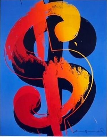 Fabulous Official Andy Warhol Rare Dollar Sign Lithograph