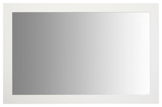 """Briscoe White Framed Mirror, 20""""x54""""."""