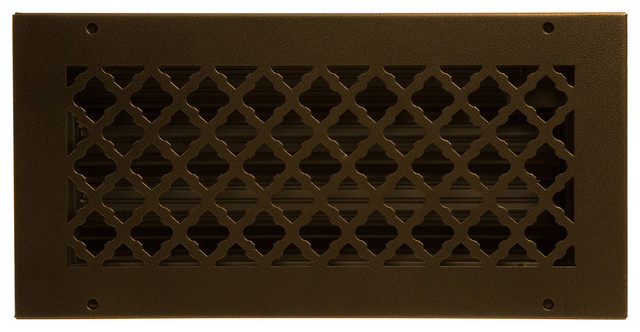 Bronze Series Steel Supply Vent Cover, Oil-Rubbed Bronze.