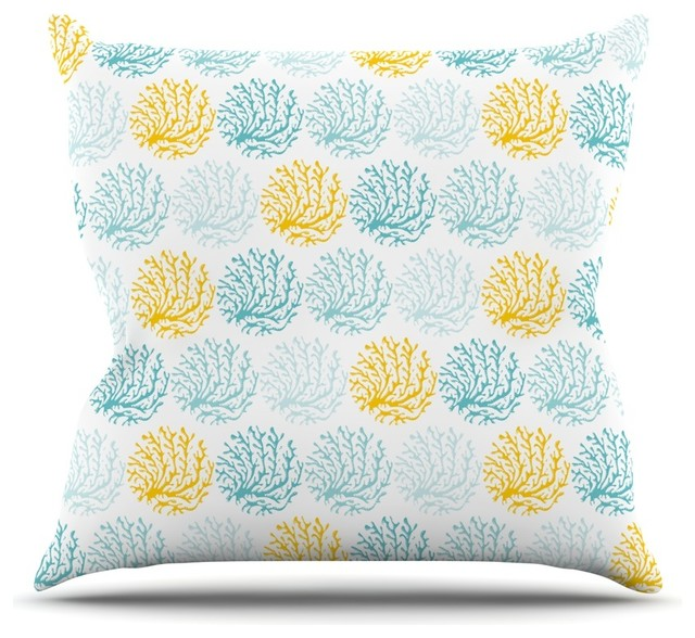 Beach Style Outdoor Cushions : KESS InHouse - Anchobee