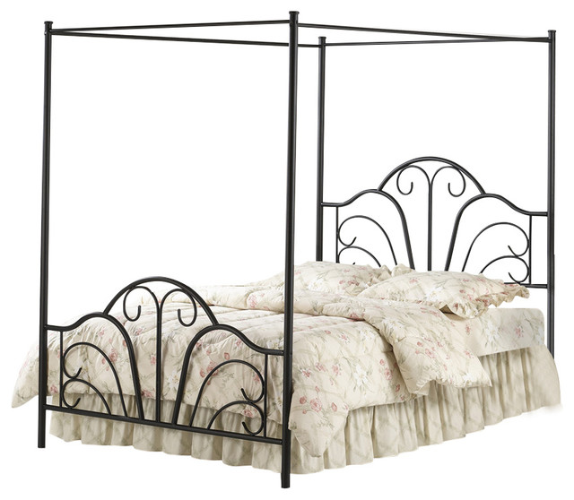 Dover Bed Set With Canopy And Legs, Rails Not Included, Full.