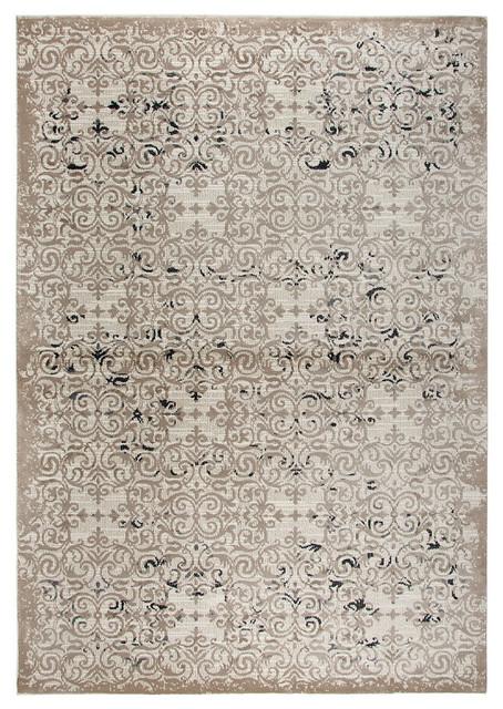 Rizzy Panache Pn6970 Rug, Beige, Taupe, Gray, Black, 6&x27;7x9&x27;6.