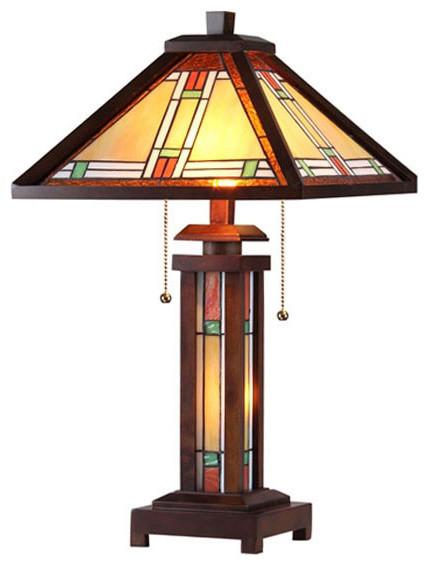 Arts U0026 Crafts Aaron Table Lamp Craftsman Table Lamps