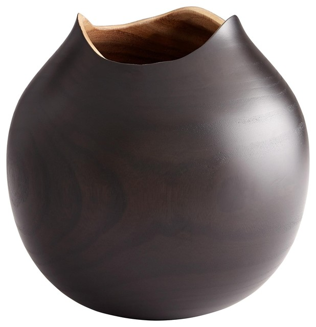 Cyan Design Sombra Large Black Wood Vase Traditional Vases By
