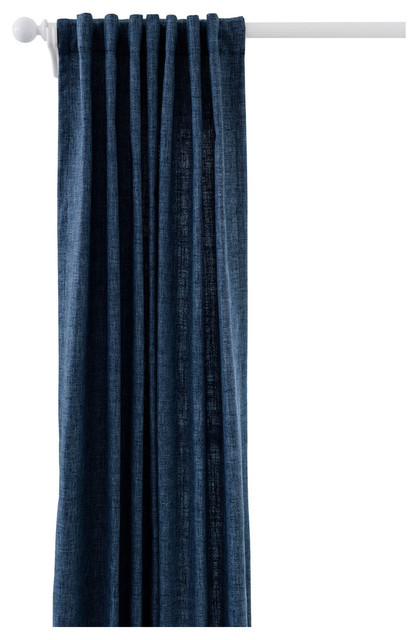 Greylock Indoor/outdoor Curtain Panel, Navy, 48x120.