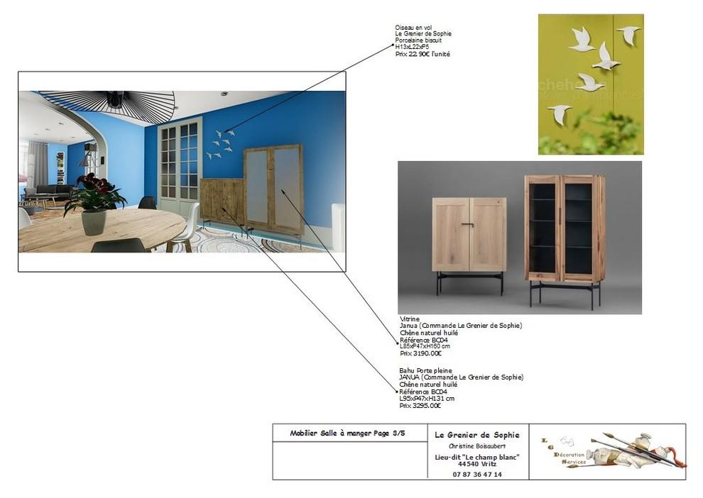 Projet de décoration salon & salle à manger