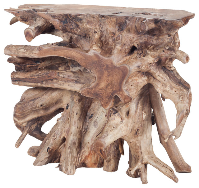 half off f8699 7dac5 Dimond Home Natural Teak Slice Console