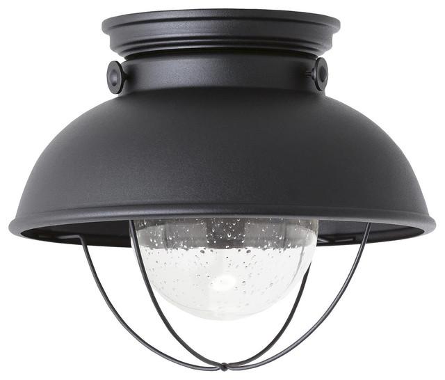 Sebring 1-Light Outdoor Ceiling Lights, Black.