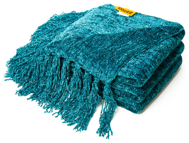 decorative throw blankets amazon target chenille blanket teal transitional throws cotton