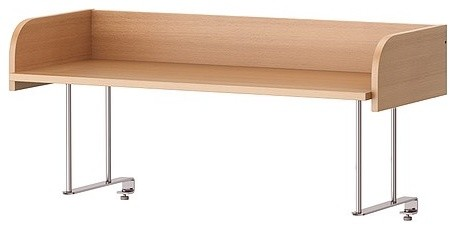 Will The Galant Desk Top Shelf Fit On A Ikea Bekant Corner