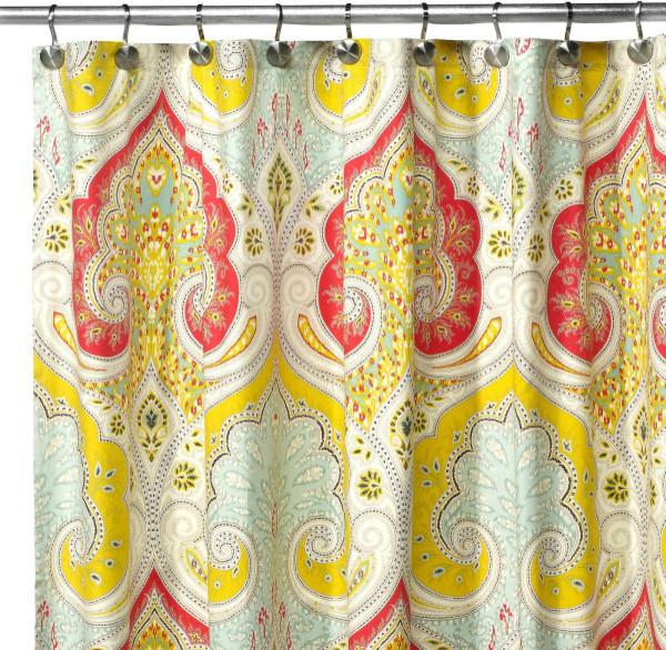 Guest Picks  Shower Curtains Make a Splash. Yellow And Teal Shower Curtain. Home Design Ideas