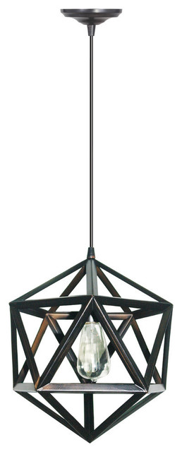 Hardwired Pendant Light Kit Geometric Cage