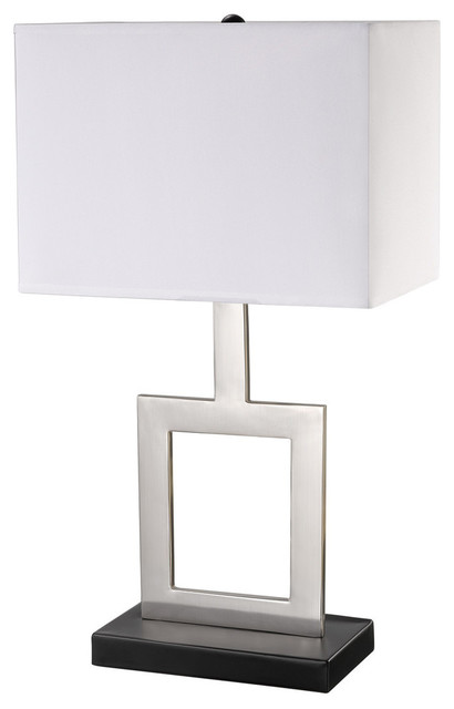 "Haven 21"" Brushed Nickel Table Lamp."
