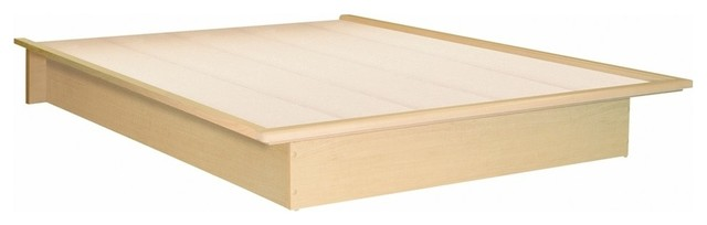 South Shore Step One Full Platform Bed, 54&x27;&x27;, Natural Maple.