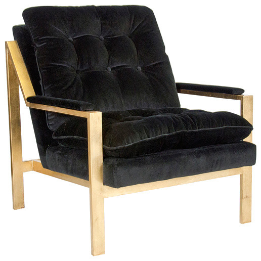Cool Worlds Away Cameron Chair With Velvet Upholstery Black Velvet Gold Pabps2019 Chair Design Images Pabps2019Com
