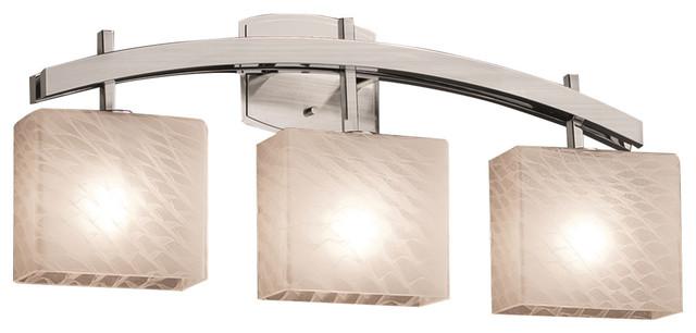 Vanity Light Bar Shade : Fusion Archway 3-Light Bath Bar, Weave Shade - Transitional - Bathroom Vanity Lighting - by ...